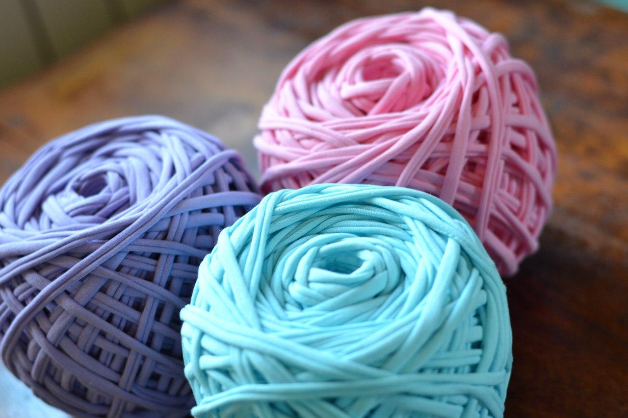 Трикотажные нитки для вязания ковриков цена 97
