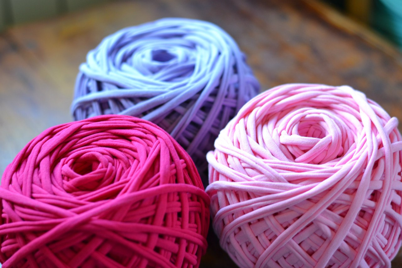Пряжа лента для вязания ковров