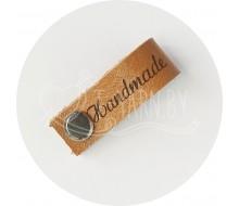 Бирка съемная из нат. кожи (Handmade) - светло-коричневый