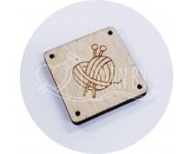Бирка пришивная деревянная (Сердце)