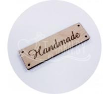 Бирка пришивная деревянная (HANDMADE)