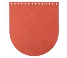 Клапан для сумки (эко-кожа) 20 * 22 см. (Спелая тыква)
