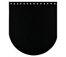 Клапан для сумки (эко-кожа) 20 * 22 см. (Супер-черный)
