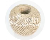 Шпагат джутовый  выбеленный (2 мм., 100 метров, 1200 текс)