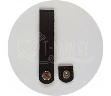 Кнопка-застежка пришивная (черный) эко-кожа, 10*2 см