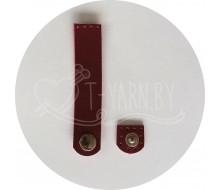 Кнопка-застежка пришивная (бордо) эко-кожа, 10*2 см