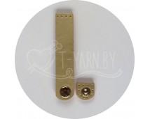 Кнопка-застежка пришивная (золото) эко-кожа, 10*2 см