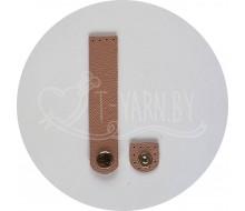 Кнопка-застежка пришивная (пудровая роза) нат. кожа, 10*2 см