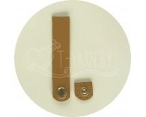 Кнопка-застежка пришивная (горчица) нат. кожа, 10*2 см