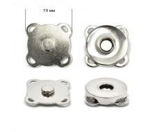 Кнопка магнитная пришивная (Никель), 19мм