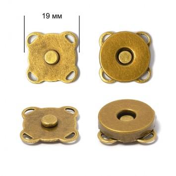 Кнопка магнитная пришивная (Антик), 19мм