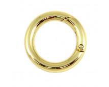 Кольцо-карабин 35 мм (светлое золото)