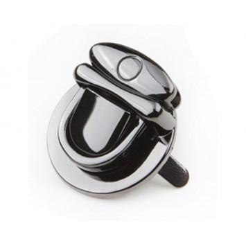Замок- клапан круглый на винтах 30 х 20 мм (черный никель)