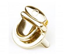 Замок- клапан круглый на винтах 30 х 20 мм (золото)