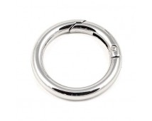 Кольцо-карабин 35 мм (никель)