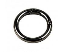 Кольцо-карабин 35 мм (черный никель)
