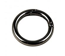 Кольцо-карабин 28 мм (черный никель)